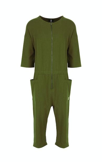 Onepiece Tag Jumpsuit Vert Olive