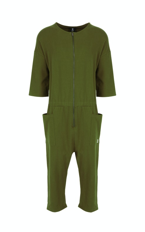 Onepiece Tag Jumpsuit GREEN