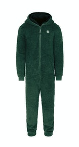 Onepiece Teddy fleece jumpsuit 2.0 Green