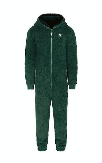 Onepiece Teddy fleece jumpsuit 2.0 Grün