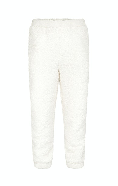 Onepiece Teddy Fleece Pants Off white