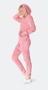 Onepiece Puppy Hug Fleece Jumpsuit Rose pâle