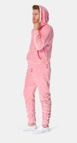 Onepiece Puppy Hug Fleece Jumpsuit Rosa