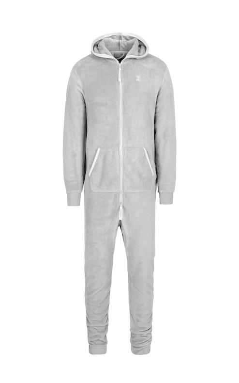 Onepiece Puppy Hug Fleece Jumpsuit Grey Mel