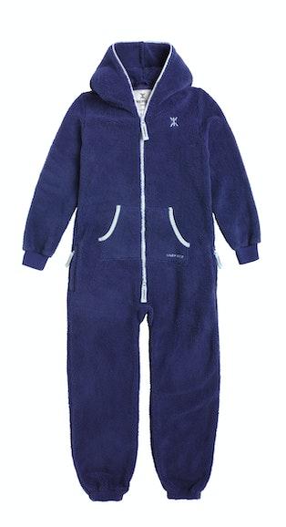 Onepiece Teddy Kids Jumpsuit Soft Indigo