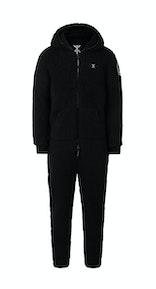 Onepiece Teddy Love Fleece Jumpsuit Black