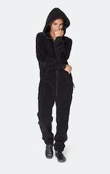 Onepiece Teddy Love Fleece Jumpsuit Schwarz