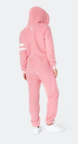 Onepiece Teddy Love Fleece Jumpsuit Rose