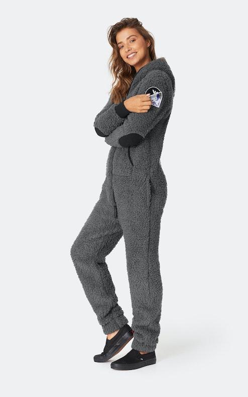 Onepiece Teddy Love Jumpsuit Dark Grey