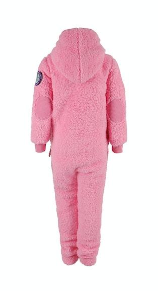 Onepiece Teddy Love Kids Jumpsuit Pink