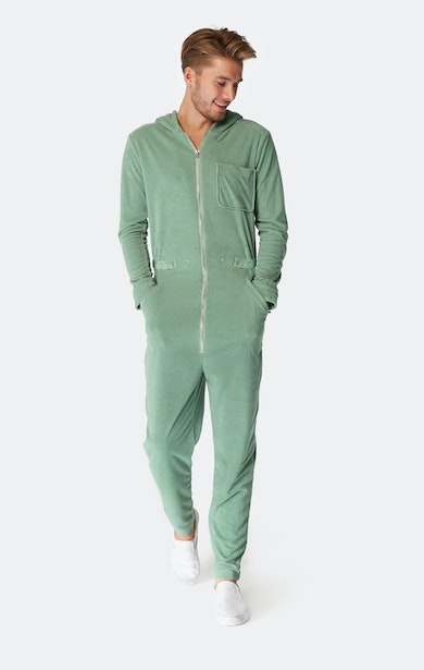 Onepiece Terry Churchill Jumpsuit Vintage Green