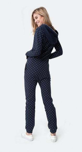Onepiece The Dot Jumpsuit Navy