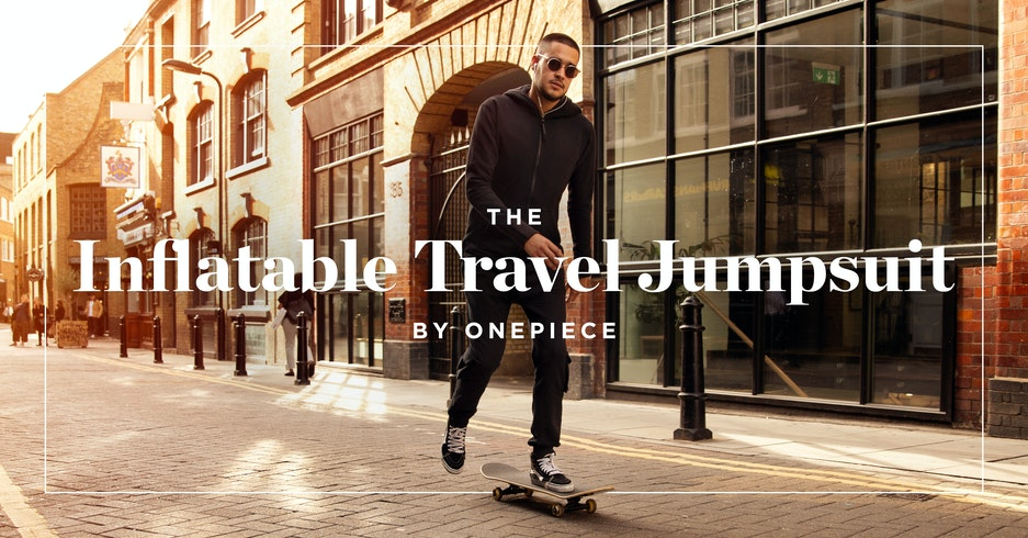 The Inflatable Travel Jumpsuit by Onepiece, the experts in comfort.