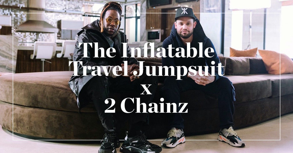 The Inflatable Travel Jumpsuit featured on 'Most Expensivest' w/ 2 Chainz