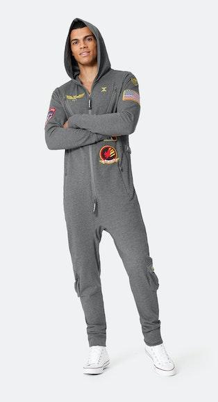 Onepiece The New Aviator Jumpsuit Dark Grey melange