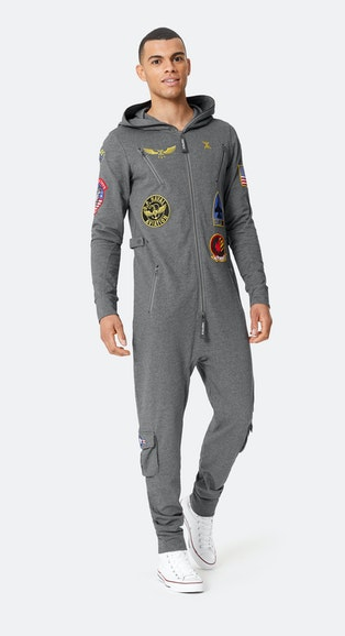 Onepiece The New Aviator Jumpsuit Dark Grey melange