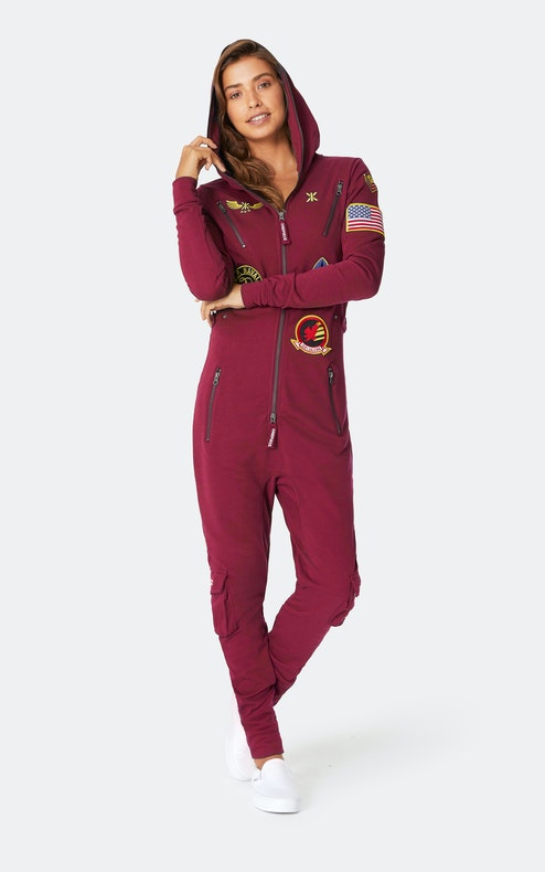 Onepiece The New Aviator Jumpsuit Dark Red