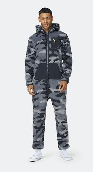 Onepiece The New Camo fleece Jumpsuit Black / Grey