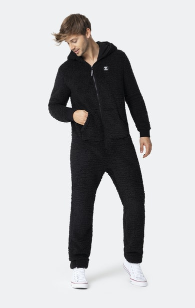 Onepiece Teddy Fleece Jumpsuit 2.0 Noir