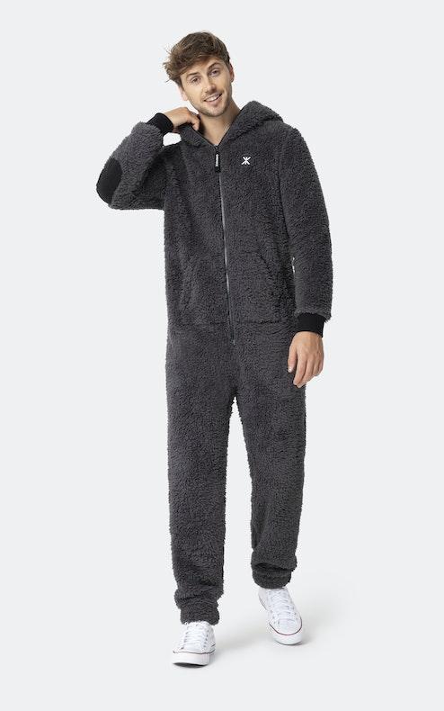 Onepiece Teddy fleece jumpsuit 2.0 Dark Grey