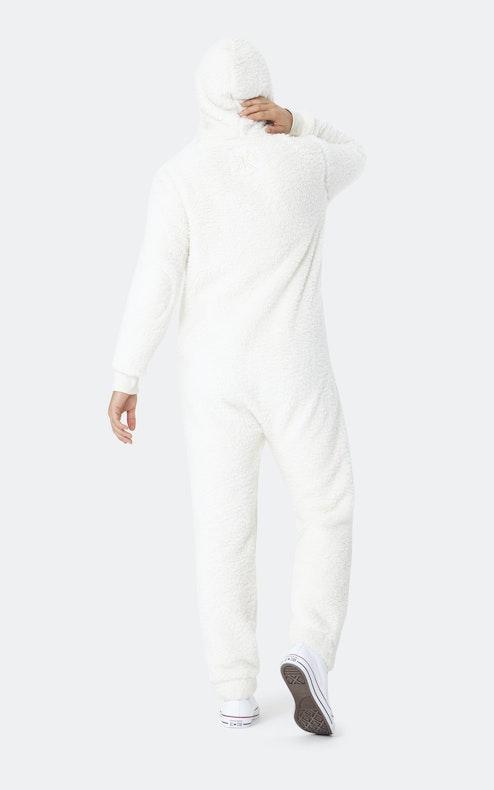 Onepiece Teddy fleece jumpsuit 2.0 Off White