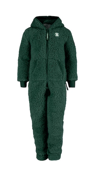 Onepiece Teddy Fleece Kids jumpsuit Army Green