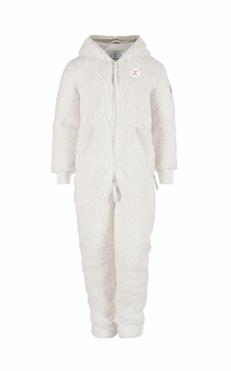 Onepiece Teddy Fleece Kids jumpsuit Off White