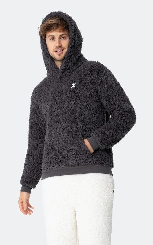 Onepiece Teddy Fleece hoodie Dunkelgrau