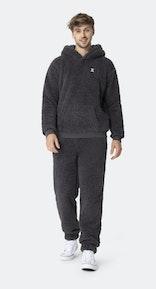 Onepiece Teddy Fleece pants Dark grey