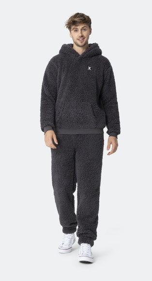 Onepiece Teddy Fleece pants Dark grey