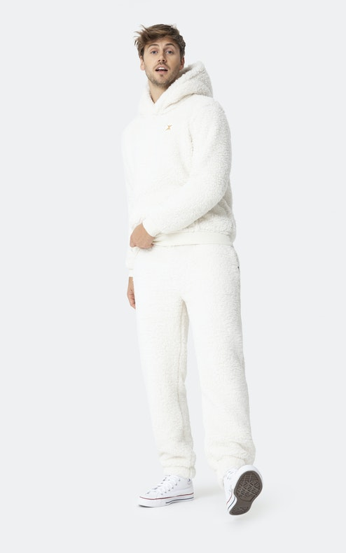 Onepiece Teddy Fleece Pants Off white