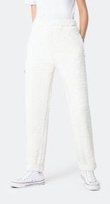 Onepiece Teddy Fleece Pants Weiß