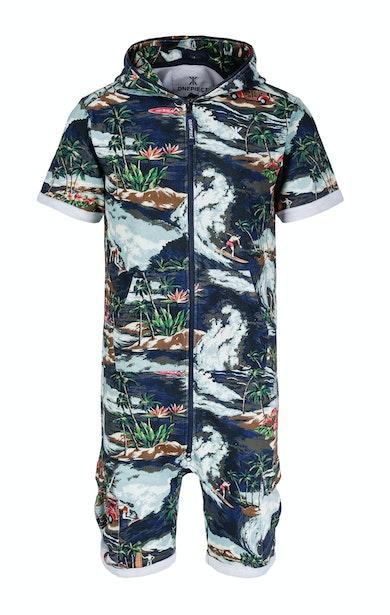 Onepiece The Vintage Hawaii Short Jumpsuit Blue Mix