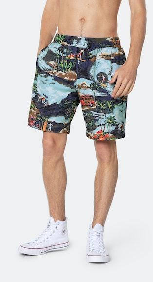 Onepiece The Vintage Hawaii shorts 紅酒紫