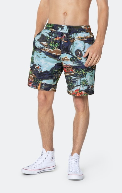 Onepiece The Vintage Hawaii shorts Blue mix