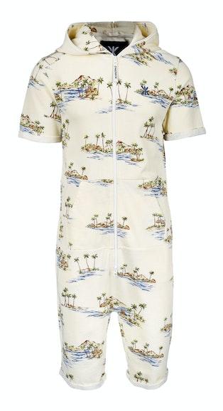Onepiece Vintage Honolulu Short Jumpsuit 와인 퍼플