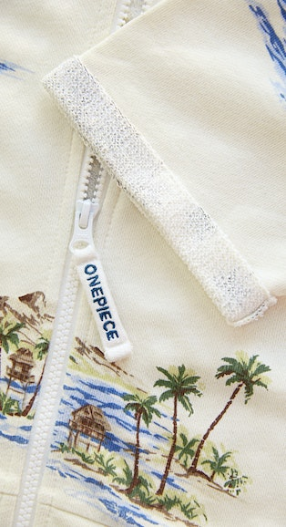 Onepiece Vintage Honolulu Short Jumpsuit Off White