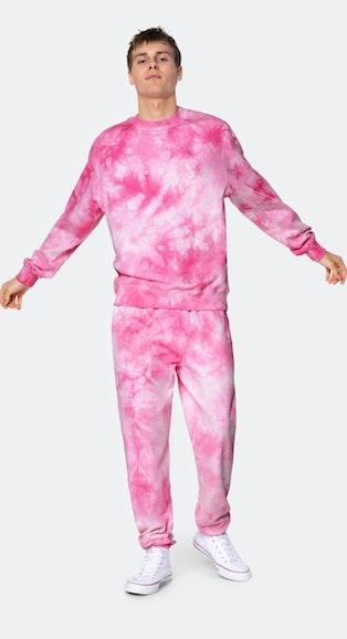 Onepiece Tie Dye Crewneck Pink