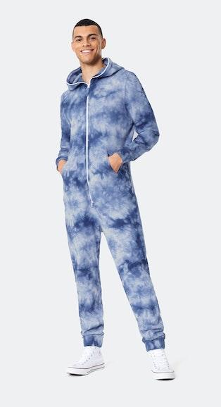 Onepiece Tie Dye Jumpsuit Blue mix