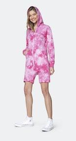 Onepiece Tie Dye short jumpsuit Pink