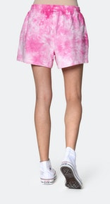 Onepiece Tie Dye Womens Shorts Pink