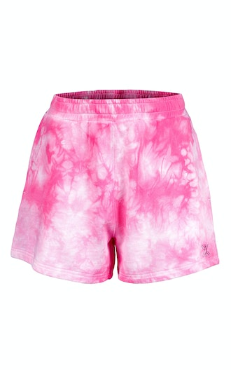 Onepiece Tie Dye Womens Shorts Pink