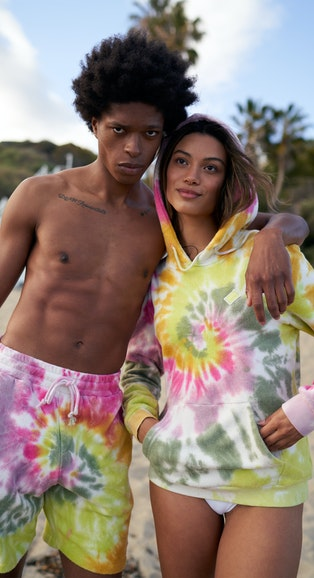 Onepiece Towel Club classic hoodie Multi Tie Dye