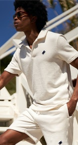 Onepiece Towel Club piquet shirt White