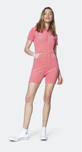 Onepiece Towel Club short slim Jumpsuit Coral