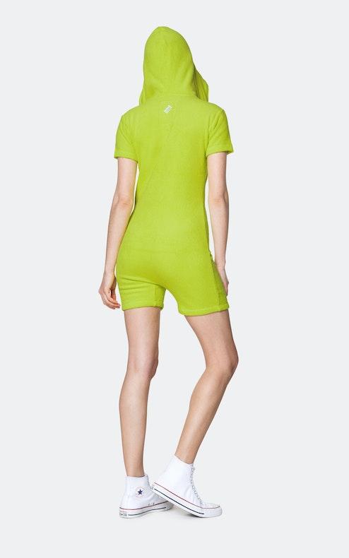 Onepiece Towel Club short slim Jumpsuit Lime