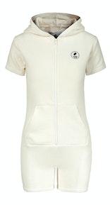 Onepiece Towel Club short slim Jumpsuit White