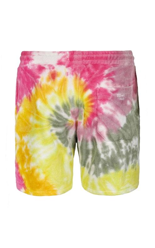Onepiece Towel Club shorts Multi Tie Dye