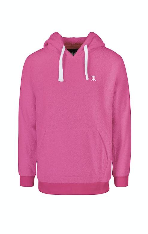 Onepiece Towel Hoodie Hot Pink
