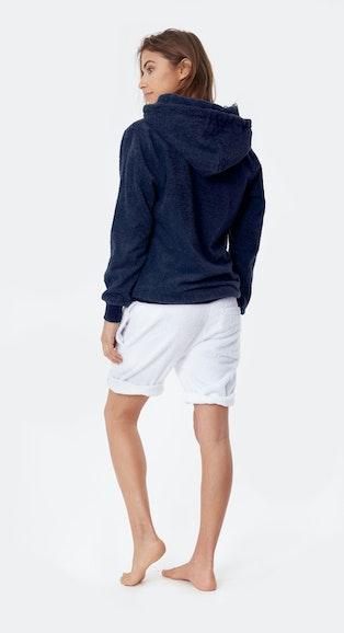 Onepiece Towel Hoodie Navy